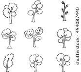 doodle oof different tree set