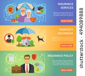 insurance company services... | Shutterstock .eps vector #494089888