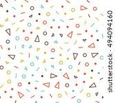 vector seamless pattern jumble... | Shutterstock .eps vector #494094160
