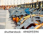 snow plough trucks and clearing ... | Shutterstock . vector #494095594
