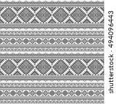 ethnic seamless monochrome... | Shutterstock .eps vector #494096443
