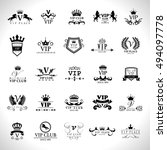 vip logo set   isolated on... | Shutterstock .eps vector #494097778