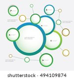 infographics template page with ... | Shutterstock .eps vector #494109874