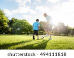 soccer football field father... | Shutterstock . vector #494111818