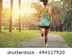 healthy lifestyle young sporty... | Shutterstock . vector #494117920