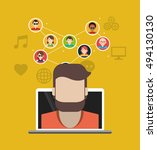 socia media related icons image  | Shutterstock .eps vector #494130130