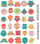 set of thirty vector badges... | Shutterstock .eps vector #494134150