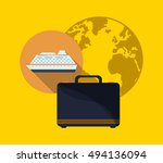 travel vacation or holidays... | Shutterstock .eps vector #494136094