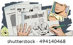stock illustration. people in... | Shutterstock .eps vector #494140468