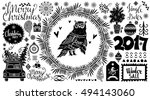 christmas holiday icons  mark.... | Shutterstock .eps vector #494143060