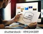 thinking out of the box concept | Shutterstock . vector #494144389