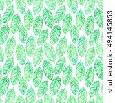 tropical trendy seamless... | Shutterstock . vector #494145853