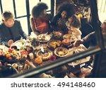 thanksgiving celebration...   Shutterstock . vector #494148460