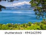 lago coatepeque near santa ana  ...   Shutterstock . vector #494162590