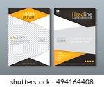 flyer design template vector ... | Shutterstock .eps vector #494164408