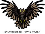 owl | Shutterstock .eps vector #494179264