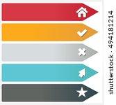 vector illustration of modern... | Shutterstock .eps vector #494181214