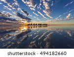 camel rides in the sunset on...   Shutterstock . vector #494182660
