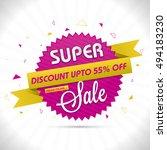 super sale  sticker  tag or... | Shutterstock .eps vector #494183230