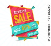 exclusive sale with discount... | Shutterstock .eps vector #494183260