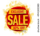 exclusive sale poster  banner ... | Shutterstock .eps vector #494183380