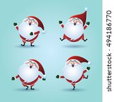 christmas   santa claus   santa ... | Shutterstock .eps vector #494186770