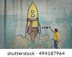 starting point | Shutterstock . vector #494187964