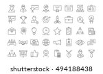 set vector line icons in flat... | Shutterstock .eps vector #494188438