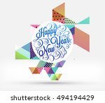 christmas design and elements... | Shutterstock .eps vector #494194429