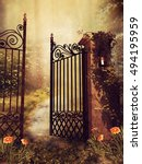 Vintage Gate To An Autumn...