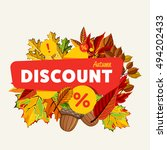special offer sale tag discount ... | Shutterstock .eps vector #494202433
