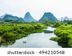 the mountains and rural scenery ... | Shutterstock . vector #494210548