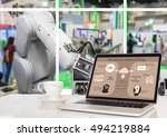 industry 4.0 concept image. the ... | Shutterstock . vector #494219884
