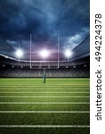 american football stadium 3d... | Shutterstock . vector #494224378