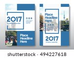 blue color scheme with city... | Shutterstock .eps vector #494227618