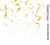 gold confetti celebration | Shutterstock .eps vector #494228956