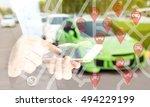 car sharing service or rental... | Shutterstock . vector #494229199