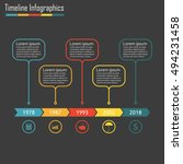 timeline infographics with 5... | Shutterstock .eps vector #494231458