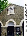 Small photo of Canterbury , United Kingdom - September 30, 2016: Zoar Chapel Strict Baptist Church