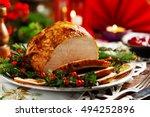 Christmas Baked Ham  Served On...