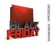 3d rendering of shopping bag... | Shutterstock . vector #494258260