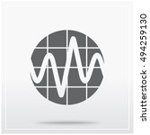 flat icon of stylized image of...   Shutterstock .eps vector #494259130
