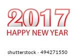happy new year 2017 text design ...   Shutterstock .eps vector #494271550