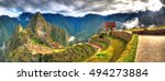 Panoramic Hdr Image Of Machu...