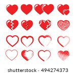 icon set vector illustration of ... | Shutterstock .eps vector #494274373