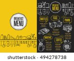 breakfast menu placemat food... | Shutterstock .eps vector #494278738