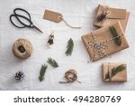 set for gift wrapping. presents ... | Shutterstock . vector #494280769