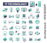 it technology icons   Shutterstock .eps vector #494284009