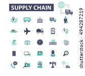 supply chain icons | Shutterstock .eps vector #494287219