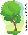 tree with a face resilience... | Shutterstock .eps vector #494295850
